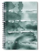 Gorgeous Grays Abstract Interior Decor Ix Spiral Notebook