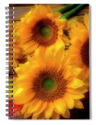 Gorgeous Lovely Sunflowers Spiral Notebook