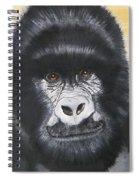 Gorilla On Wood Spiral Notebook