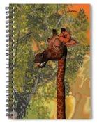 Gossiping Giraffe Spiral Notebook