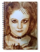 Goth Lady Spiral Notebook