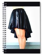 Gothic Black Satin High Low Skirt. Ameynra By Sofia Spiral Notebook