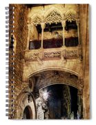 Gothic Bridge At Night In Barcelona 2 Spiral Notebook