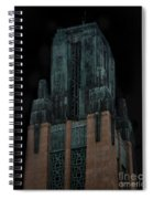 Gothic Night. Architecture Of Los Angeles Spiral Notebook