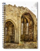 Gothic Temple Ruins - San Domingos - Vintage Version Spiral Notebook