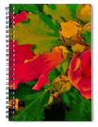 Gouache Painting Flower And Bumble Bee Spiral Notebook