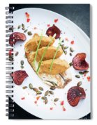 Gourmet Fish Fillet With Chickpea Curry Puree Meal Spiral Notebook