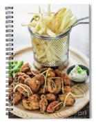 Gourmet Fried Octopus Calamari Style Set Meal With Fries Spiral Notebook