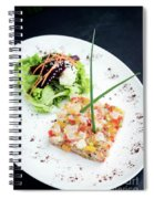Gourmet Raw Tuna Tartare Ceviche With Mango Lime And Chilli Spiral Notebook