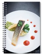 Gourmet Salmon Fish  Fillet With Rice And Guacamole Meal Spiral Notebook