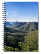 Govetts Leap Lookout Panorama, Australia Spiral Notebook