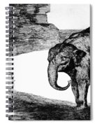 Goya: Elephant, C1820 Spiral Notebook