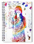 Grace Slick Jefferson Airplane Paint Splatter Spiral Notebook