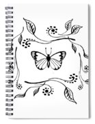 Graceful Butterfly Baby Room Decor Iv Spiral Notebook