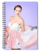 Graceful Dreamy Dancing Girl In Pink Dress Spiral Notebook