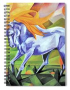 Graceful Stallion With Flaming Mane Spiral Notebook