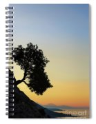 Lonely, Loutro, Chania, Crete, Greece Spiral Notebook