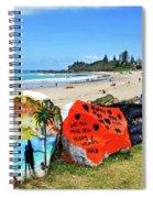 Graffiti At The Beach Spiral Notebook
