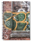 Graffiti Covered Wall Of An Old Abandoned Factory Spiral Notebook