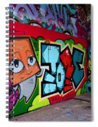 Graffiti London Style Spiral Notebook