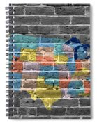 Graffiti  Map Of The United States Of America Spiral Notebook