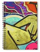 Grafitti Curves Spiral Notebook
