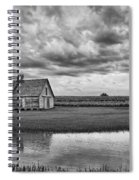 Grain Barn And Sky - Reflection Spiral Notebook