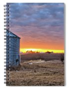 Grain Bin Sunset 2 Spiral Notebook