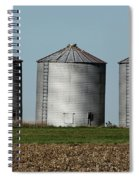 Grain Bins In A Row Spiral Notebook