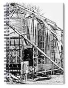 Grain Silos In Black And White Spiral Notebook