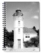 Grainy Lighthouse Spiral Notebook