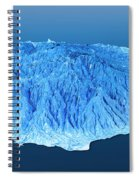 Gran Canaria Topographic Map 3d Landscape View Blue Color Spiral Notebook