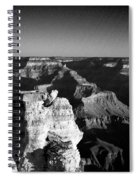 Grand Canyon Black And White Spiral Notebook