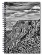 Grand Canyon In Black And White Spiral Notebook