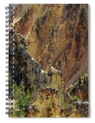 Grand Canyon Of The Yellowstone From North Rim Drive Spiral Notebook