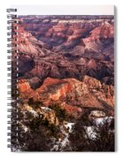Grand Canyon Winter Sunrise Landscape At Yaki Point Spiral Notebook