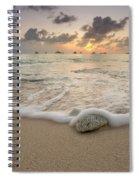 Grand Cayman Beach Coral Waves At Sunset Spiral Notebook