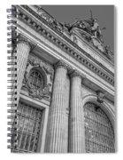 Grand Central Terminal - Chrysler Building Bw Spiral Notebook
