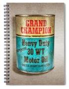 Grand Champion Motor Oil Spiral Notebook