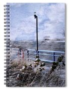 Grand Haven Channel With Winter Waves  Spiral Notebook