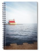 Grand Haven Lighthouse From North Pier Spiral Notebook