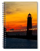 Grand Haven Sunset Spiral Notebook