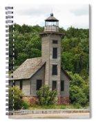 Grand Island Lighthouse Spiral Notebook