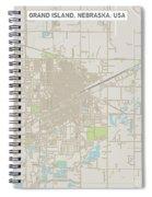 Grand Island Nebraska Us City Street Map Spiral Notebook