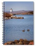 Grand Marais Breakwater Lights Spiral Notebook