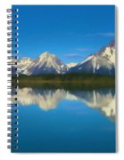 Grand Teton Reflection Wood Texture Spiral Notebook