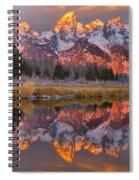 Grand Teton Snake River Sunrise Reflections Spiral Notebook