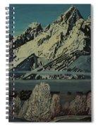 Grand Teton Winter Spiral Notebook