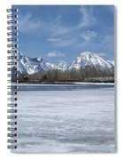 Grand Tetons And Snake River From Oxbow Bend 16-9 Spiral Notebook