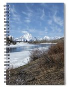 Grand Tetons From Oxbow Bend At A Distance Spiral Notebook